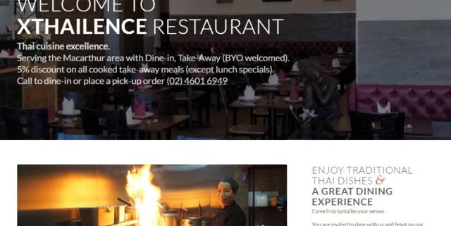 xthailence restaurant